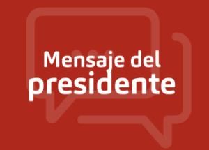 Mensaje del Presidente CDE