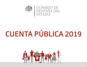 Cuenta Pública 2019 del Consejo de Defensa del Estado