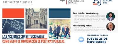 """CONSEJERO RAÚL LETELIER PARTICIPA EN CHARLA SOBRE """"LAS ACCIONES CONSTITUCIONALES COMO MEDIO DE IMPUGNACIÓN DE POLÍTICAS PÚBLICAS"""""""