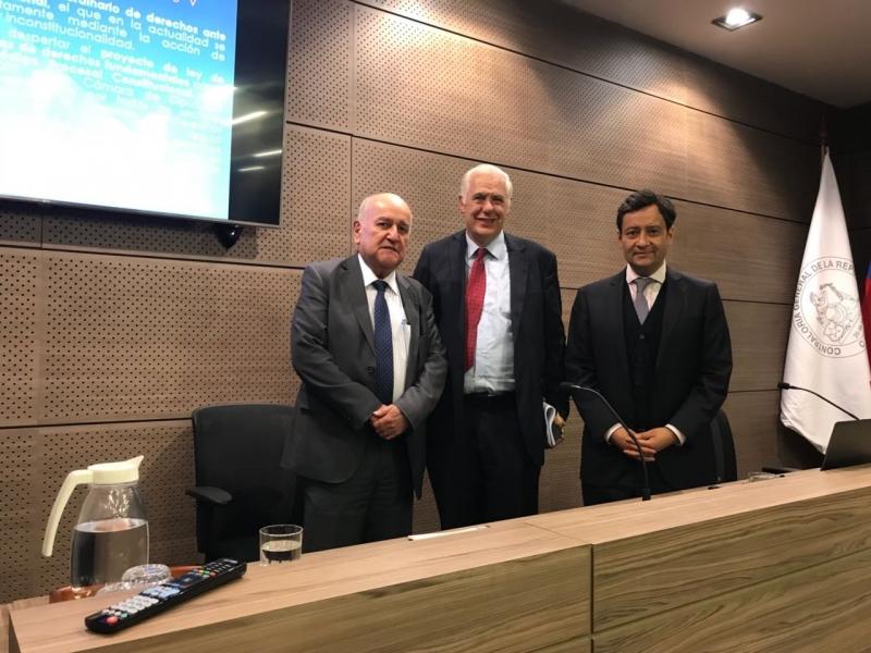 APF Carlos Bonilla, Humberto Nogueira y Jorge León