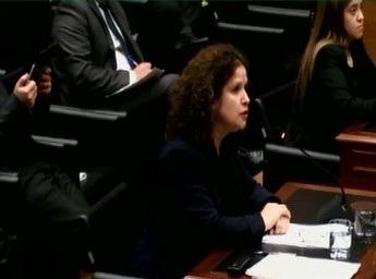 La Abogada Procurador Fiscal de Santiago, Ruth Israel, en la audiencia del 17 de julio pasado