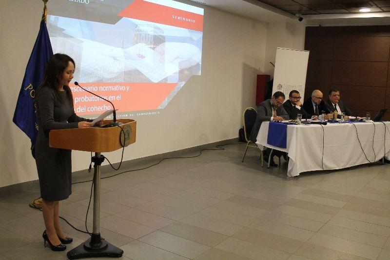 """Semniario """"Nuevo escenario normativo y desafíos probatorios en el combate del cohecho"""""""