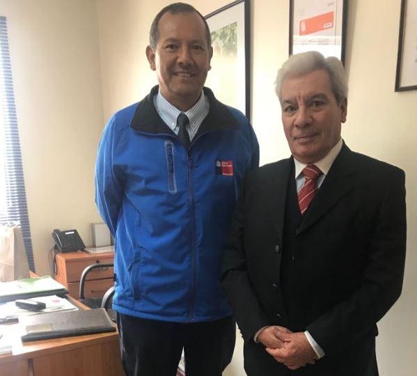 APF Carlos Vega y Seremi de Salud, Alejandro García